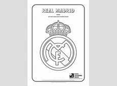 Cool Coloring Pages Real Madrid logo coloring page Cool