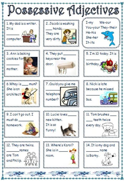 possessive adjectives pronouns
