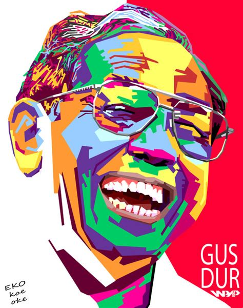gusdur wpap by ekokoeoke on deviantart