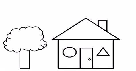 cara mewarnai gambar rumah anak tk gambar mewarnai rumah