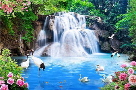 3d Scenery Wallpaper by Customize 3d Luxury Wallpaper Waterfalls Water Landscape