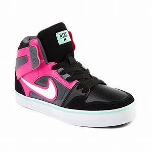 Shop for Youth Nike Ruckus Hi Athletic Shoe in Black Pink