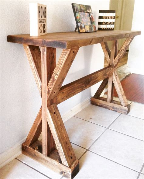 How To Make An Entryway Table by White Rustic X Entryway Table Diy Projects