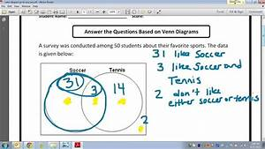 Common Core Math  How To Fill In A Venn Diagram With