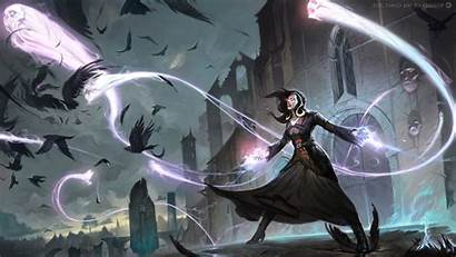 Wizard Magic Fantasy Crow Raven Gathering Anime