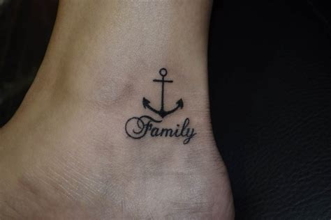 Small Anchor Tattoo On Neck