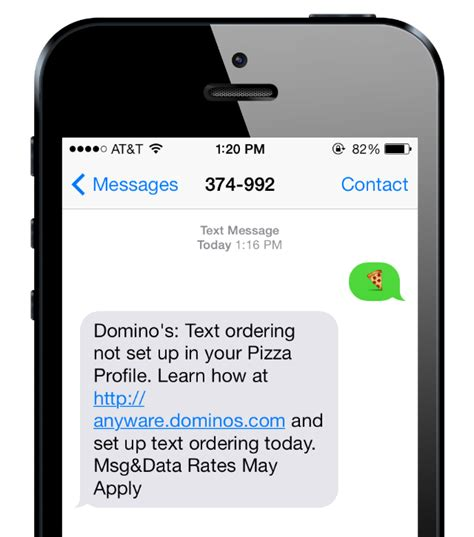 dominos phone number i tried ordering domino s text message and it was a