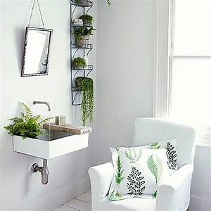 Interior design ideas – green houseplants in the bathroom ...