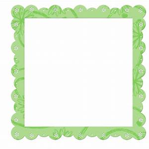 Green Transparent Frame with Flowers Elements | Gallery ...