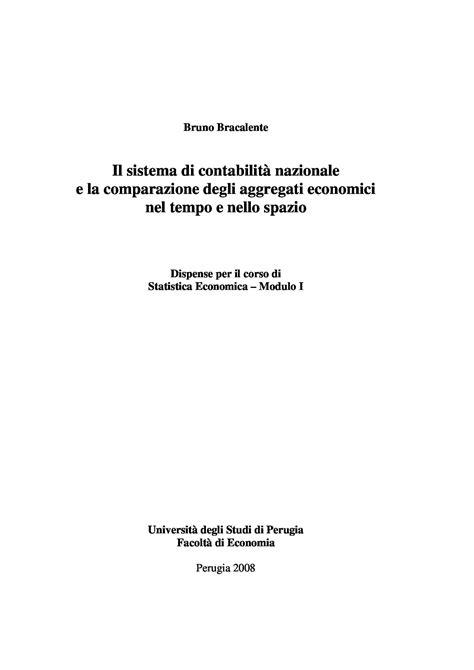 Dispense Statistica Economica by Contabilit 224 Nazionale Dispense