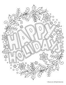 Beautiful Printable Christmas Adult Coloring Pages | Woo