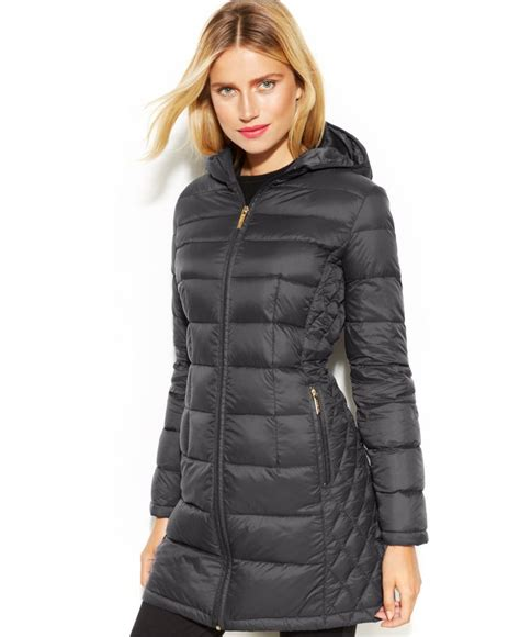 michael michael kors petite quilted  packable puffer