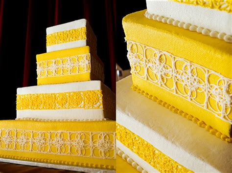 Add the milk, oil, and vanilla. Wedding Cakes Pictures: Yellow and White Wedding Cakes