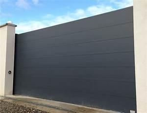 Portail Coulissant Motorisé 4m : portail aluminium design haut gamme portail alu 4m battant ~ Dailycaller-alerts.com Idées de Décoration
