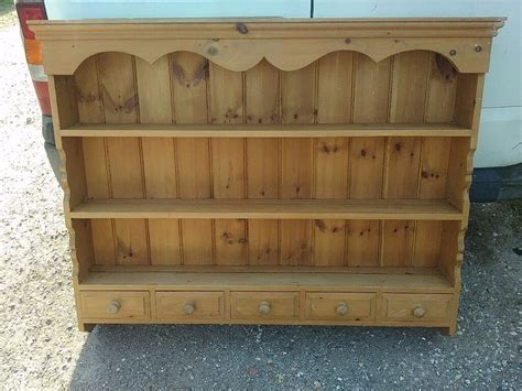 solid pine plate rack mini dresser  shelf kitchen shelf unit wall cabinet  grimsby