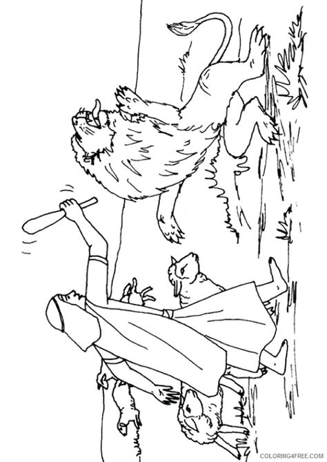 david  goliath sunday school coloring coloring pages