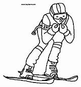 Coloring Skiing Skier Clipart Supplies Colouring 20coloring 20supplies 20pages Clipground Printable Slalom Clip Snow Template Theclipartwizard sketch template