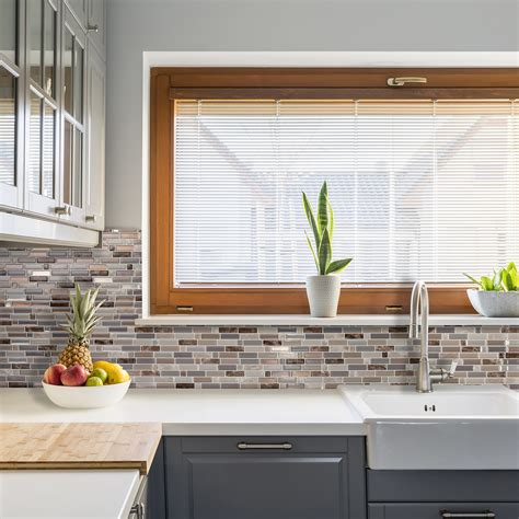 autocollant pour cuisine dosseret de cuisine autocollant smart tiles