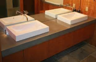 Bathroom Vanity Countertop with Concrete