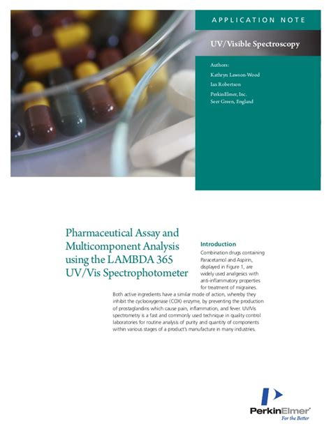 Pharmaceutical Assay and Multicomponent Analysis