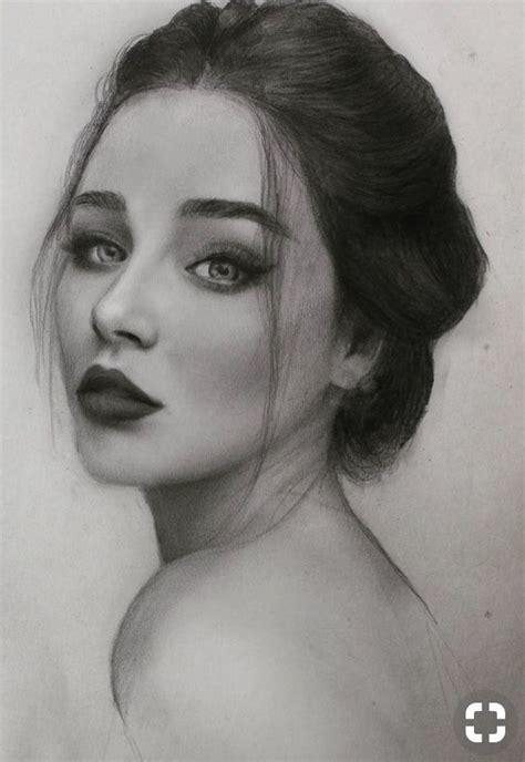 rostro hermoso carboncillo en  drawings art