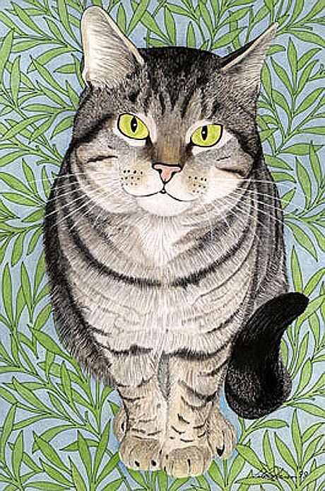 cat paintings  peter robinson moggyblog