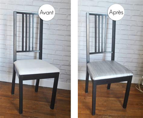 customiser chaise en bois relooking et customisation de chaises ikea avant après