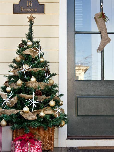 top christmas tree outside decoration design a joyful and festive entrance hgtv