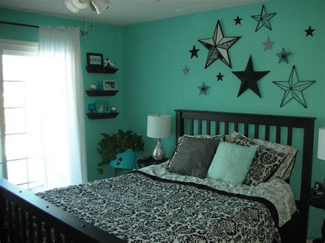The master bedroom has a coffered ceiling and opens to the master bathroom. Aqua Bedroom | luvs2sew | Flickr