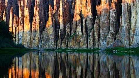 lena pillars nature park yakutia russia wallpaper