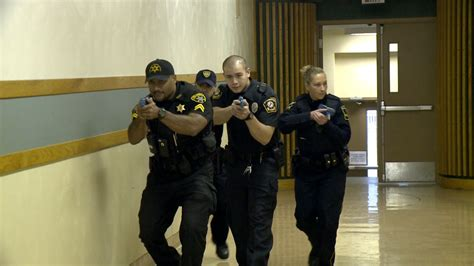 local police  part  active shooter drill