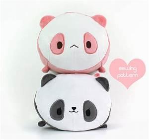 PDF sewing pattern - Panda Bear Roll plush - stacking loaf ...