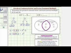 venn diagram image ex 1 determine the gcf and lcm using prime factors and a