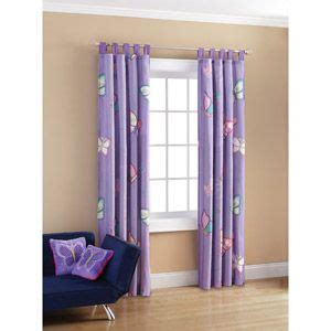 mainstays butterfly patches microfiber drape curtain panel