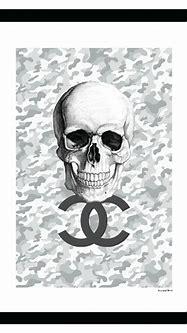 Chanel Camouflage Skull - Grey / White - 14x18 Framed ...