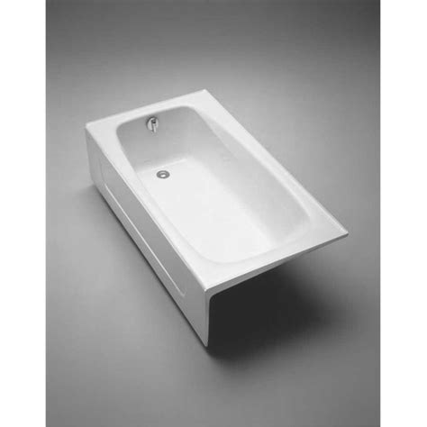 Toto Bathtubs Cast Iron by Toto Fby1525rp 01 Cotton 5 Foot Cast Iron Three Wall