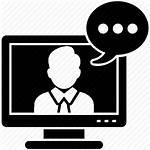 Icon Chat Communication Boy Conversation Talking Icons