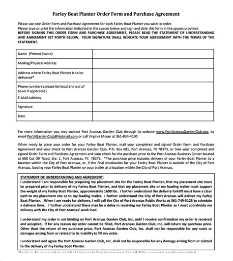 boat purchase agreement templates sample templates