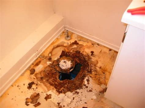 How do I know the subfloor is rotting/rotted?   plumbing