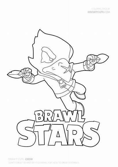 Brawl Crow Stars Coloring Draw Pages Star