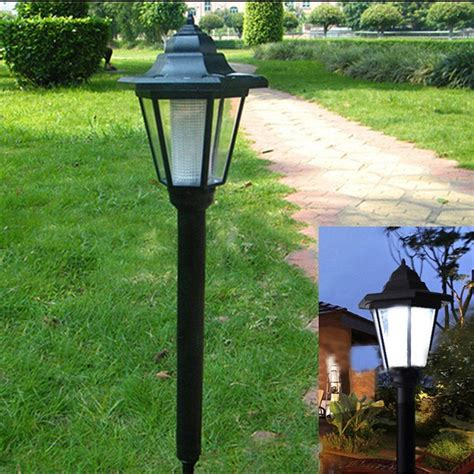 led solar power light sensor garden security l