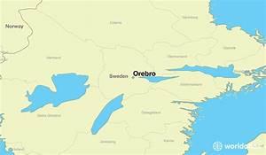Where Is Orebro  Sweden     Orebro  Oerebro Map