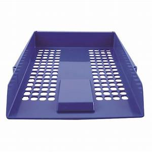 q connect blue plastic letter tray cp159kfblu With plastic letter size trays