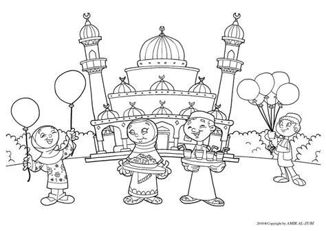 Moskee Kleurplaat by Kleurplaat Suikerfeest Afb 22027