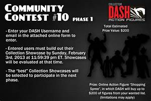 community contest 10 announcement dash action figures With contest announcement template