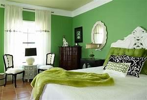 Schlafzimmer In Grün Gestalten : schlafzimmer inspiration mit wandfarbe gr n im barock ~ Michelbontemps.com Haus und Dekorationen