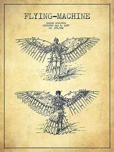 Flying Machine Diagram  Via Flying Machine Patent Drawing