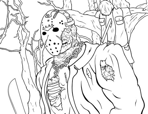 jason coloring pages friday   activity shelter