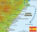 Map of Costa Azahar (Spain) - Map in the Atlas of the ...