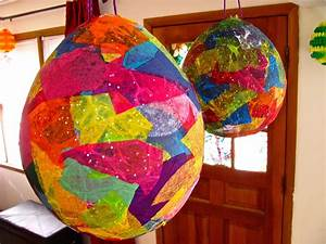 The Chocolate Muffin Tree: Tissue Paper Mache Easter Egg